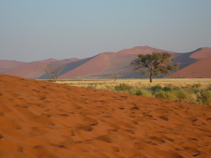 Afrique australe -Namib, - paysage des dunes de Sossuslei