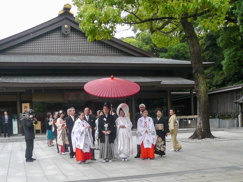Japon,Tokyo - Quartier Arajuku, mariage au temple Meiji-junku