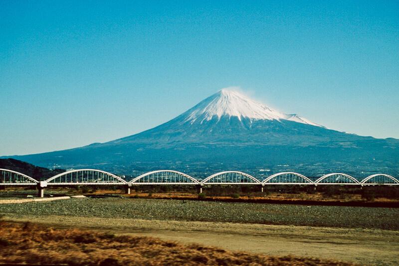 Japon, Fujiyama vu du train