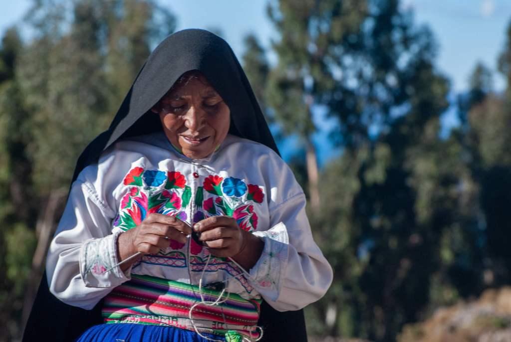 Pérou, lac Titicaca -Ile Amantani, notre hôte