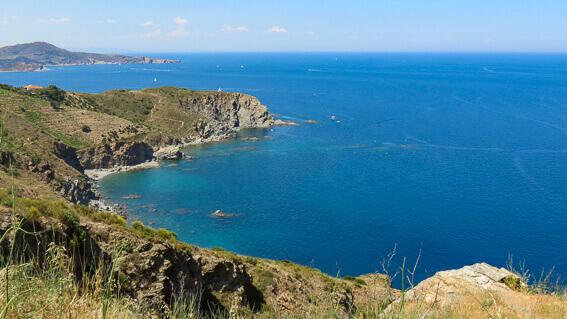 France - Côte Vermeille, la vue depuis le Cap Béar
