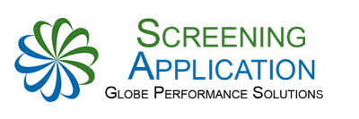 GLOBE's Online Screening Application