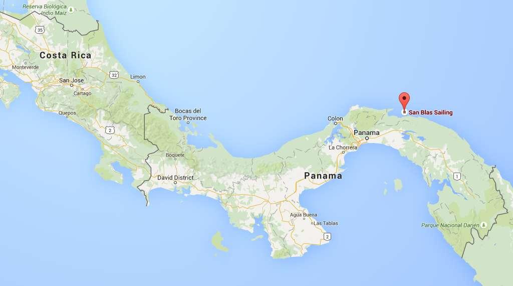 Sailing in San Blas: The San Blas Islands are on the Caribbean coast of Panama