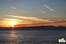 Sonnenuntergang auf den Campingplatz