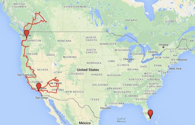 Route USA & Kanada