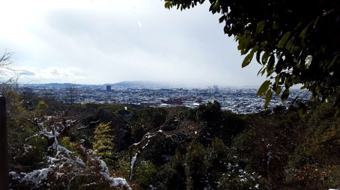 View of Kyoto mid-way to the top of Mt. Inari