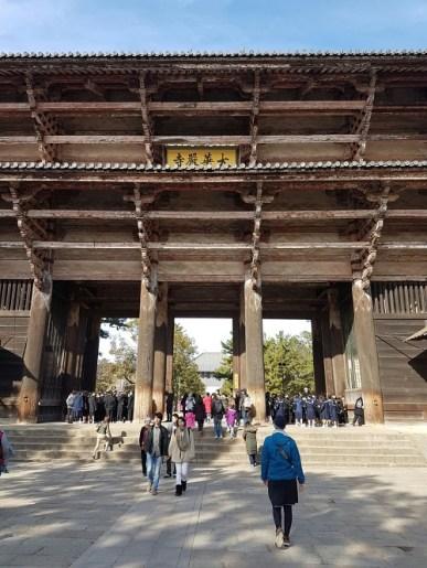 Walking towards the Todaiji Complex