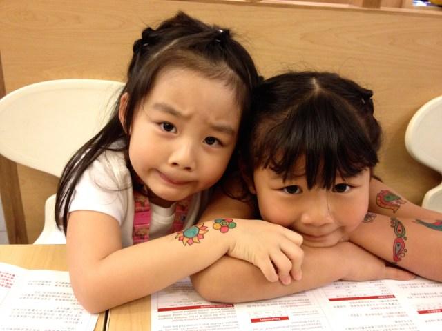 The two girls reunite in Hong Kong