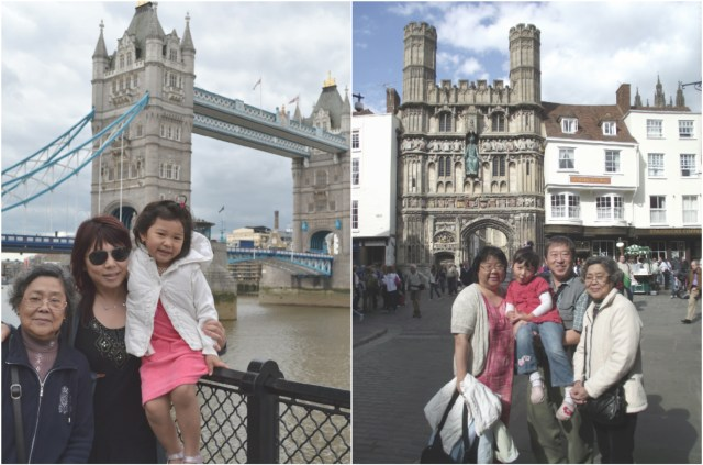 2011: Trip to London with Bridgette to visit family friends