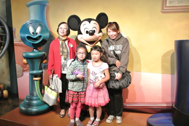 2014: Disneyland trip with Bridgette, her friend Karina, and my mother in law