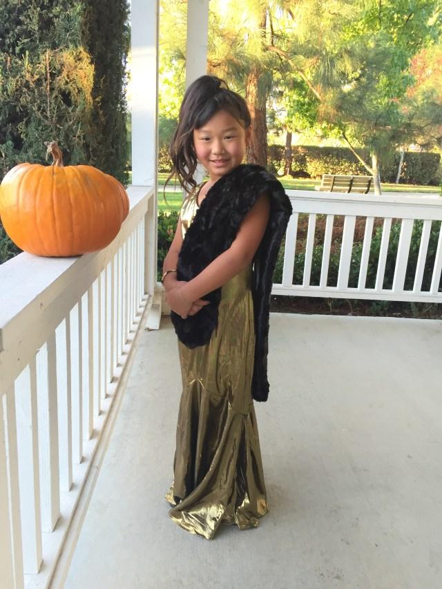 Bridgette's costume this year--Oscar winning celebrity!