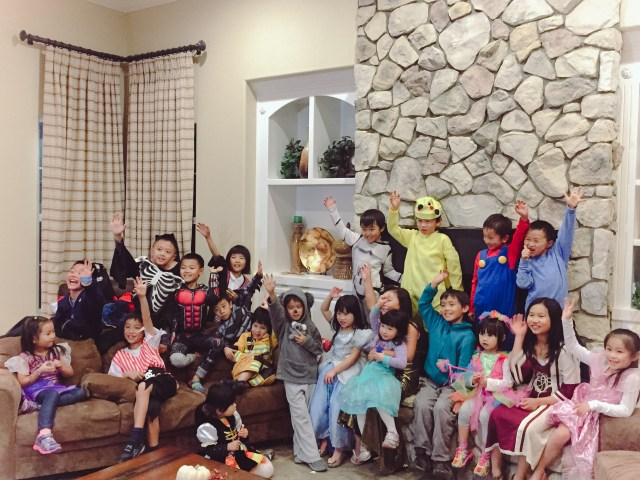 Oli and Balkee's annual Halloween Party with way too many kiddos :)