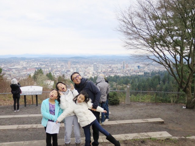 Right outside Pittock Mansion is a magnificent view of the city!