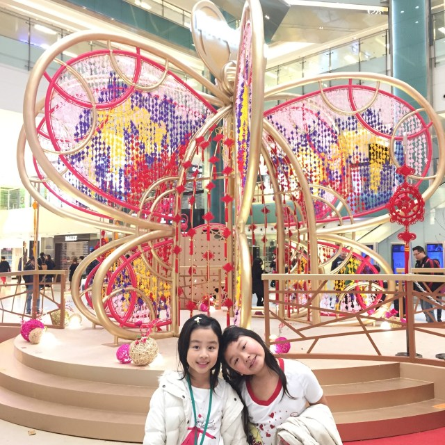 We're use to seeing Christmas decorations all over Hong Kong, but this was Bridgette's first time seeing all the Chinese New Year decorations up!
