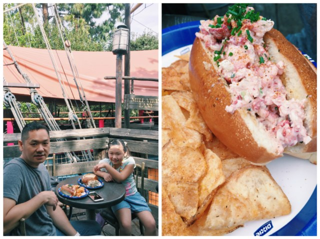 This lobster roll near the Haunted Mansion was the bomb!