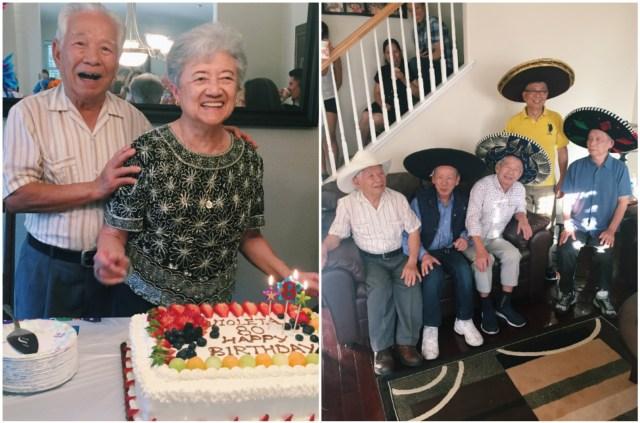 Celebrating my Aunt's 80th bday