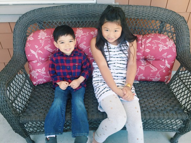 Bridgette with her cousin Xian