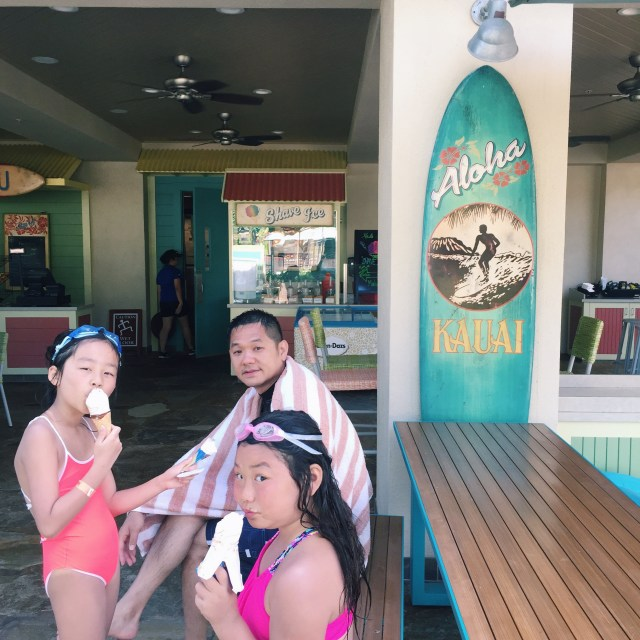 Ice cream breaks are absolutely essential on pool days :)