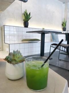 Matcha tea at B+C Lab Cafe