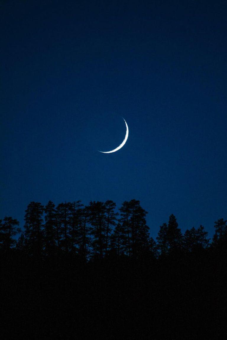 photo of crescent moon