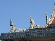 Detail Ouna Lom Pagoda, Phnom Penh, Cambodia