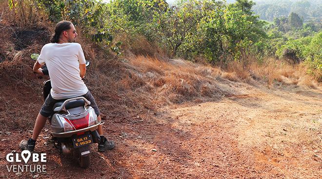 Rollerfahrend die Umgebung von Arambol erkunden