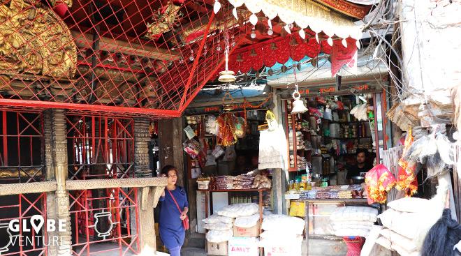 Kathmandu, Altstadt, Shops