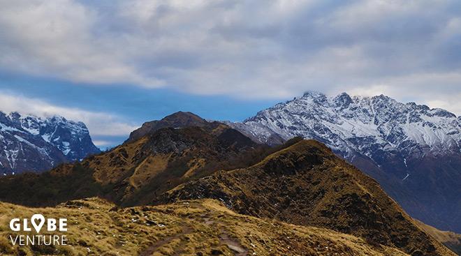 Nepal, Mardi Himal Trek, High Camp, Wolken