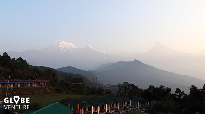 Australien Camp mit Aussicht auf den Annapurna