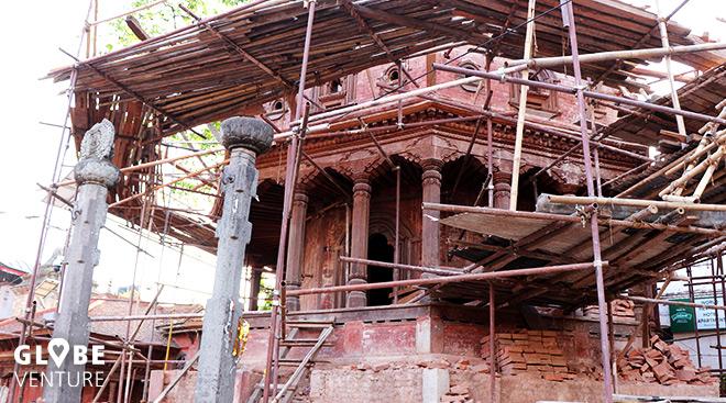 Bakthapur Nepal Tempel Erdbeben