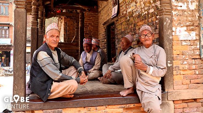 Bakthapur Nepal alte Männer