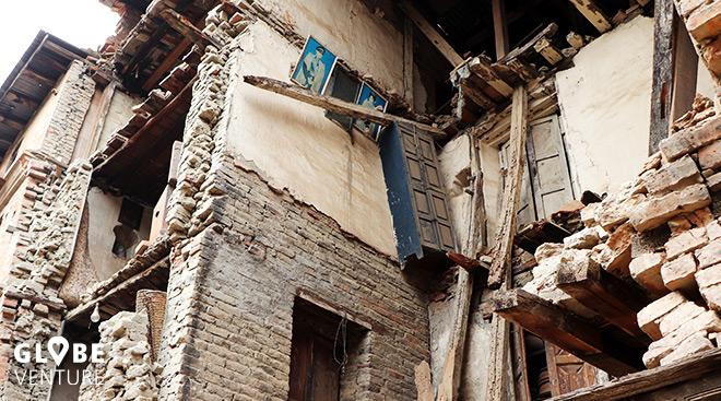 Erdbebenschäden Bakthapur Nepal