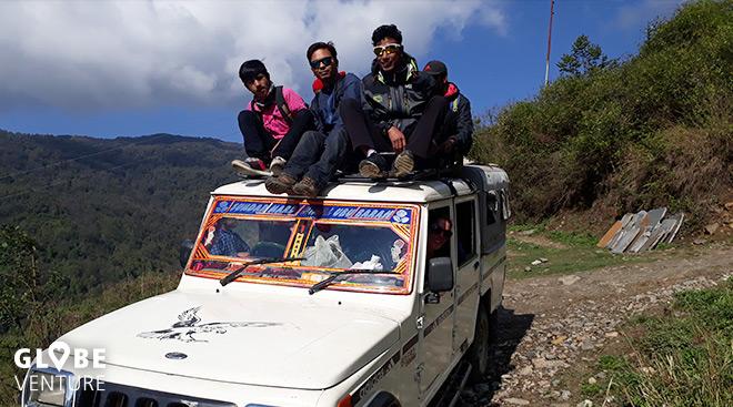 Jeepfahren in Nepal