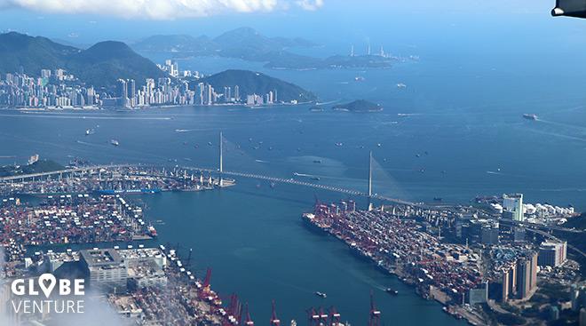 Hong Kong vom Flugzeug aus