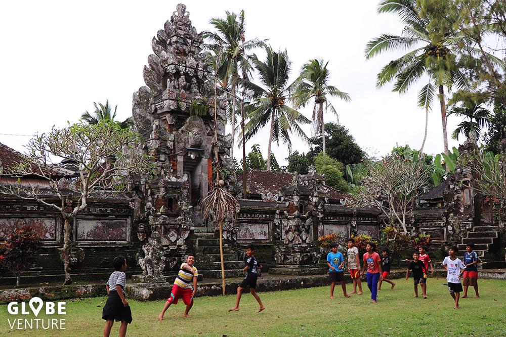 Bali Tempel Fußball