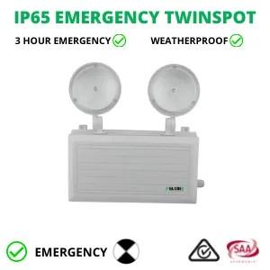 IP65 EMERGENCY TWINSPOT