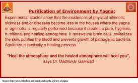 How yajna purifies environment