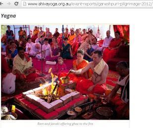 Australian Hindus Performing Yajna
