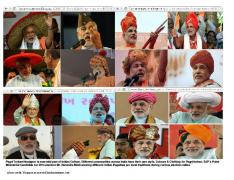 PM candidate felicitated with local traditional Pagri/Turban during election campaign