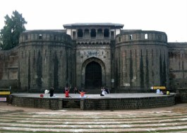 Famous Shaniwar-wada fort -Pune (front gate) built by Bajirao Peshwa in 1732