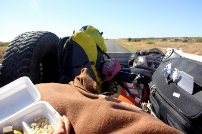 Cheapest way of traveling in Namibia? in the back of someone's truck with a mattress and blankets!