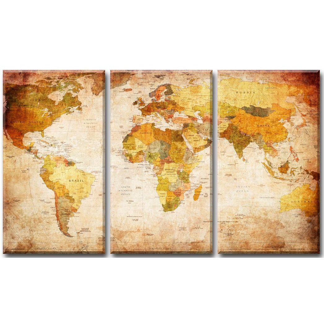 Mapa Mundi Murales Decorativos Y Educativos