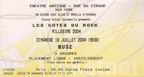 Les Côtes du Rock, cuvée 2004