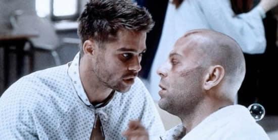 Bruce Willis et Brad Pitt
