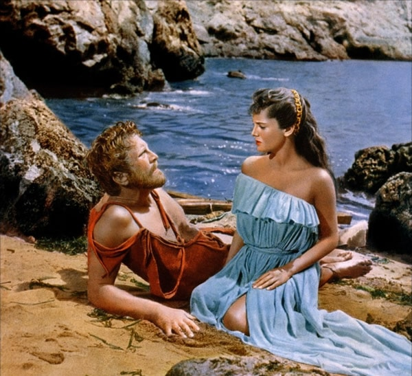 Kirk Douglas et Silvana Mangano