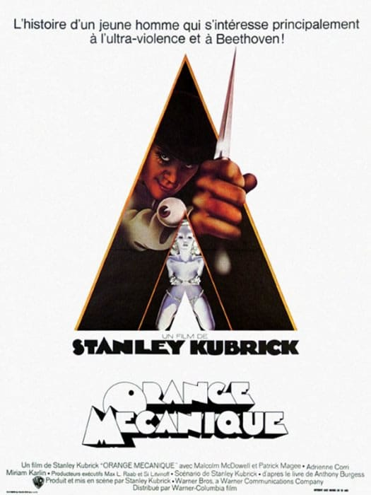 Orange Mécanique de Stanley Kubrick - Affiche