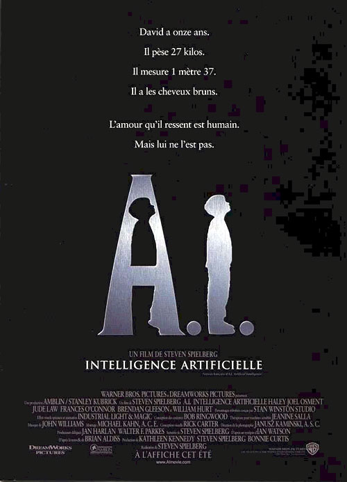 Affiche d'A.I. de Spielberg