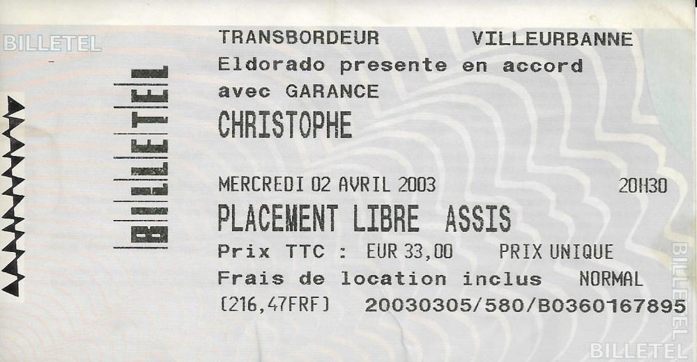 Christophe en concert à Lyon