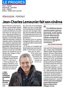 Jean-Charles Lemeunier dans Le Progrès
