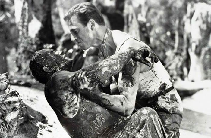 Vanel et Montand dans la boue